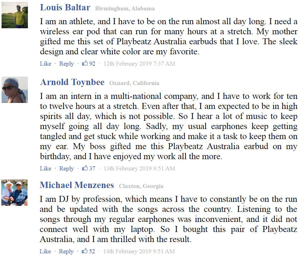 playbeatz Customers reviews