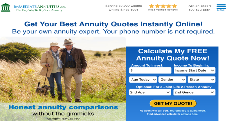 Immediateannuities.com Reviews 2020 | Is It a Scam
