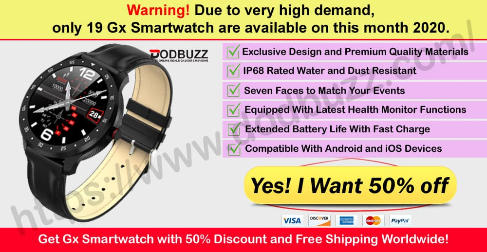 Gx Smartwatch Reviews Where to Buy Dodbuzz