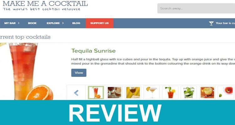 Make Me A Cocktail Website 2020
