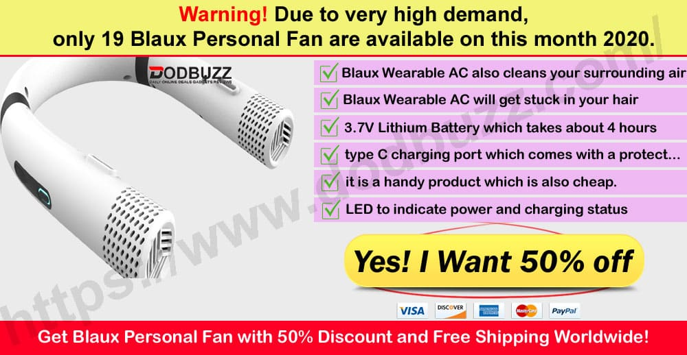Blaux Personal Fan Where to Buy
