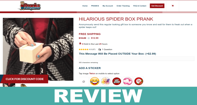 Spider Box Prank Reviews