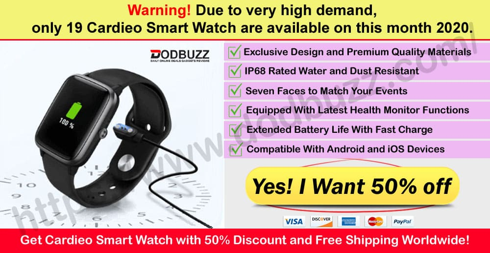 Cardieo Smart Watch Where to Buy on Dodbuzz