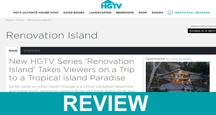 Renovation Island Website 2020