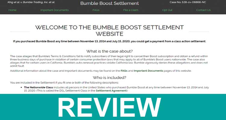 Bumble Boost Settlement Review