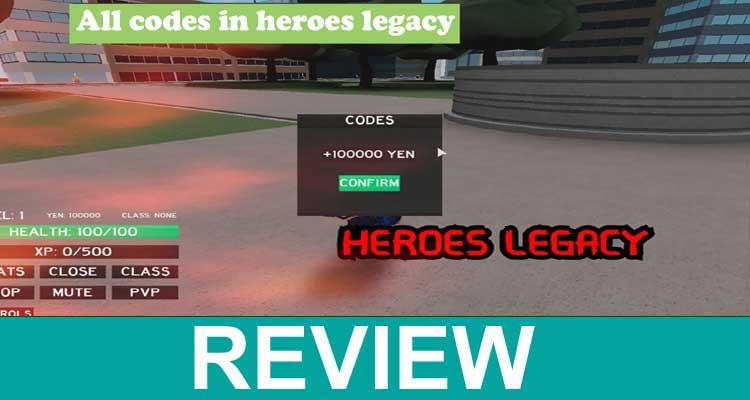 All Codes in Heroes Legacy 2020