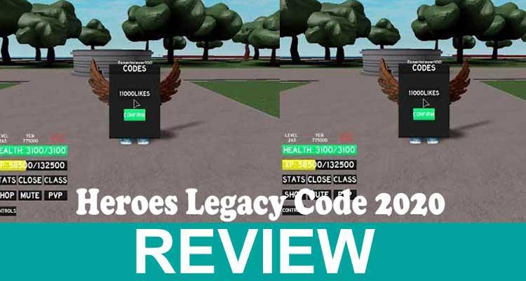Heroes Legacy Code 2020