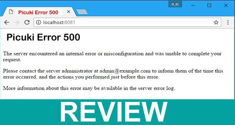 Picuki Error 500 2020