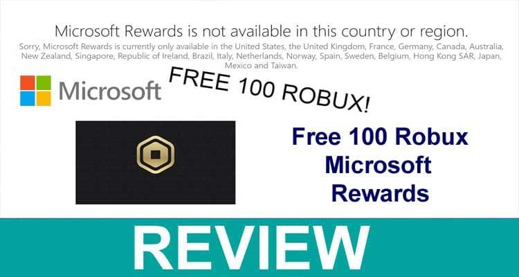 Free 100 Robux Microsoft Rewards 2020