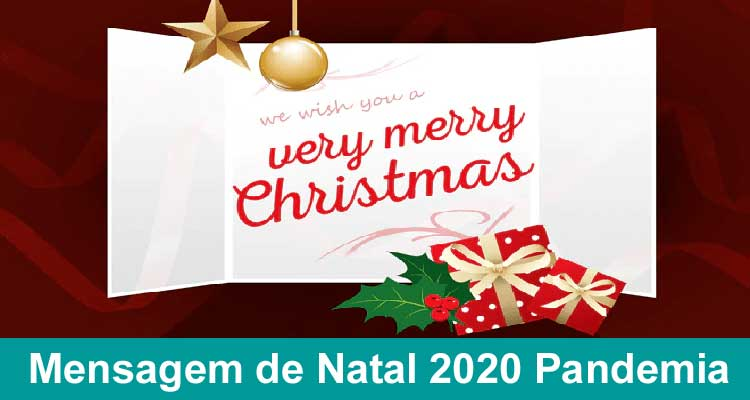 Mensagem de Natal 2020 Pandemia