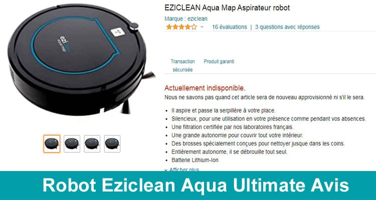 Robot Eziclean Aqua Ultimate Avis 2020