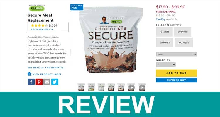Secure Meal Replacement Reviews 2021.