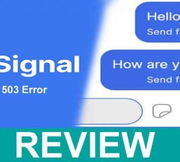 Signal 503 Error 2021.