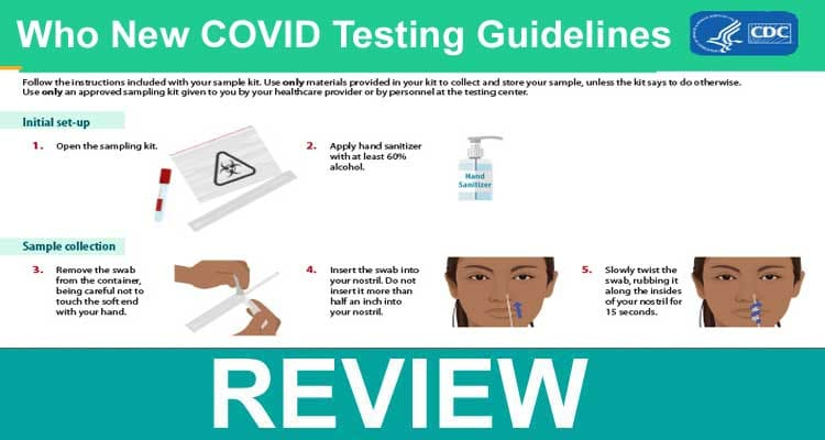 Who New COVID Testing Guidelines, 2021.