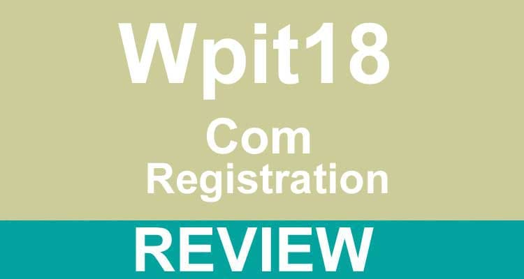 Wpit18 Com Registration 2020.