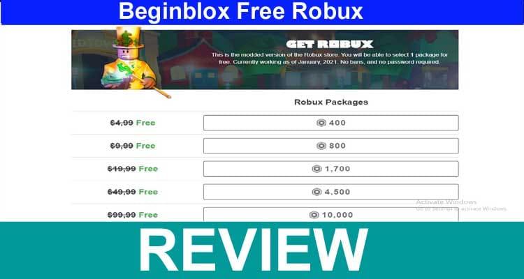 Beginblox Free Robux 2021.