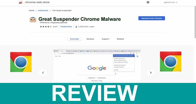 Great Suspender Chrome Malware 2021.