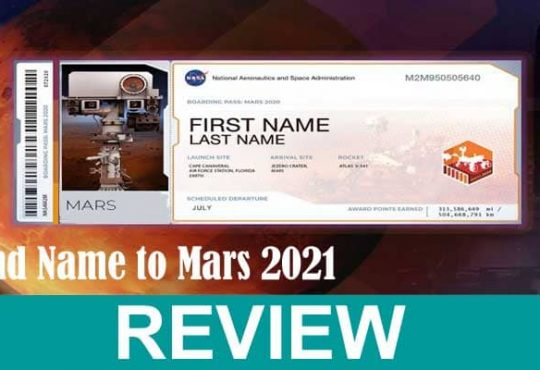 Send Name To Mars 2021 .
