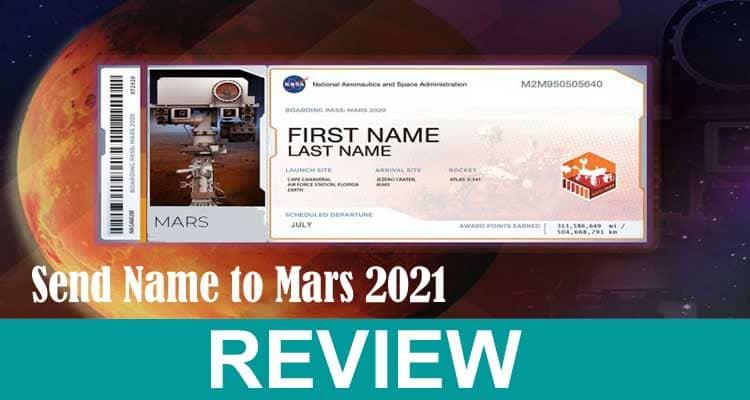 Send Name To Mars 2021 .
