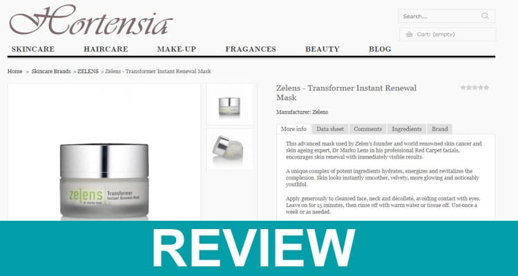 Zelens Transformer Mask Reviews 2021