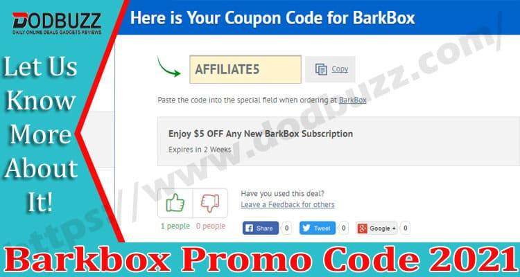 Barkbox Promo Code 2021.