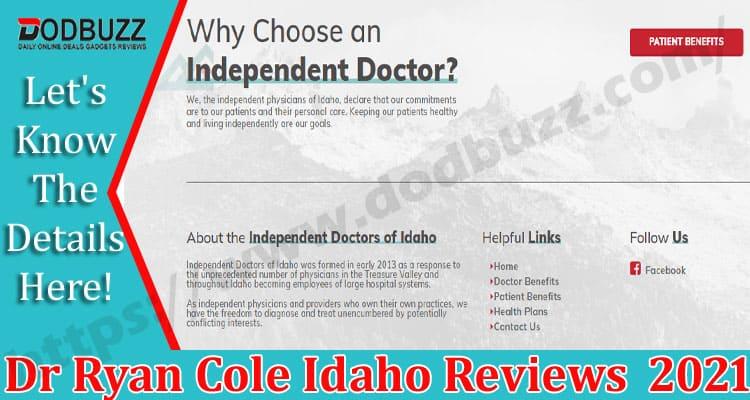 Dr Ryan Cole Idaho Reviews DOdbuzz.com