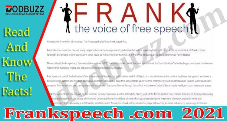 Frankspeech .com 2021