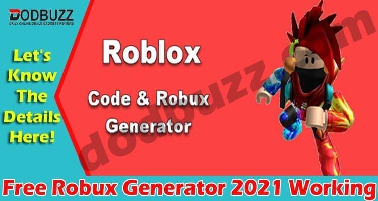 Free Robux Generator 2021 Working