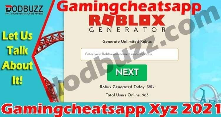 Gamingcheatsapp Xyz {April} Learn About Robux Generator!