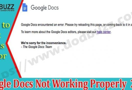Google Docs Not Working Properly 2021