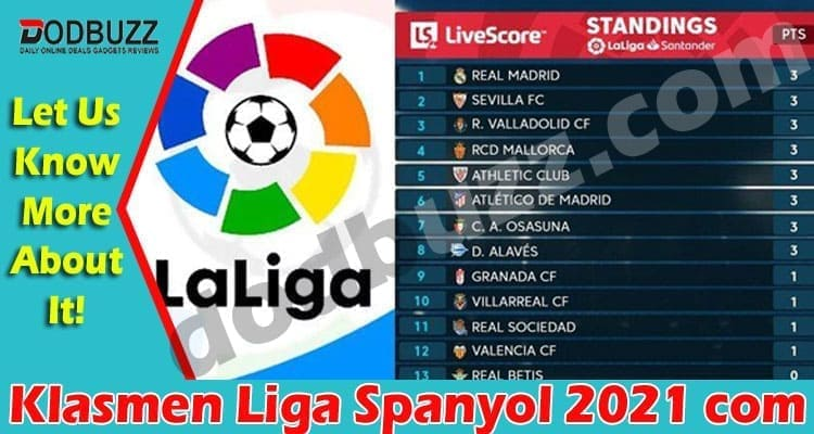 Klasmen Liga Spanyol 2021 com 2021