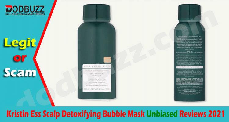 Kristin Ess Scalp Detoxifying Bubble Mask Review 2021.