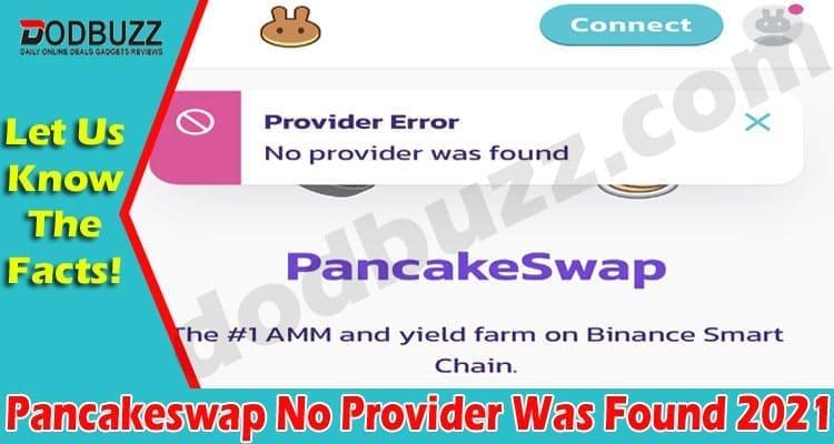 Pancakeswap No Provider Was Found 2021
