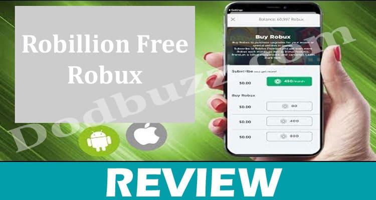 Robillion Free Robux Dodbuzz.com