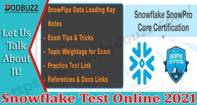 Snowflake Test Online 2021