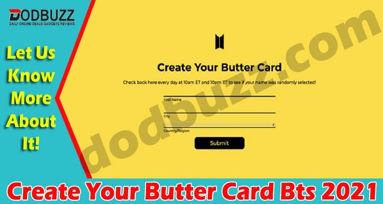Create Your Butter Card Bts (May) Get All Information!