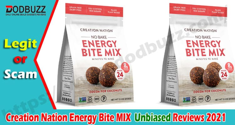 Creation Nation Energy Bite MIX Review 2021.