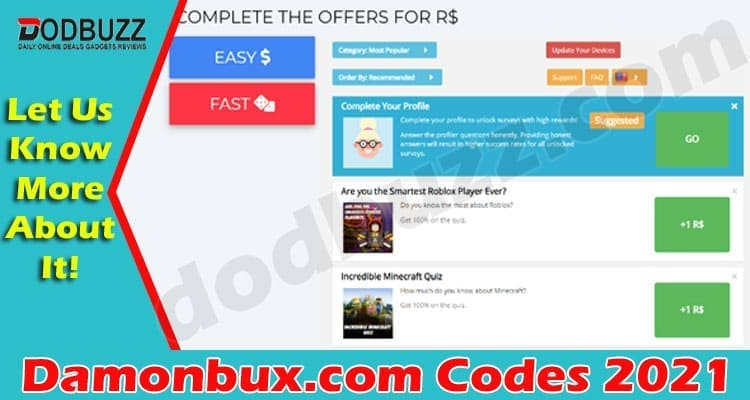 Damonbux.com Codes (May) Everything You Need To Know!