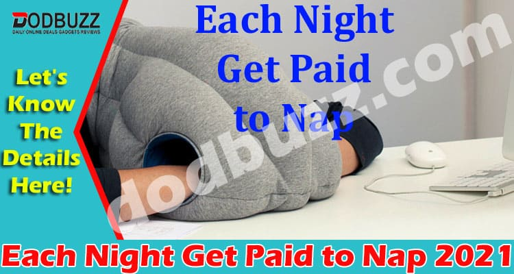 Each Night Get Paid to Nap (May) Complete Information!