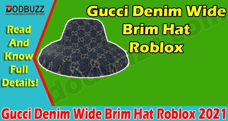 Gucci Denim Wide Brim Hat Roblox