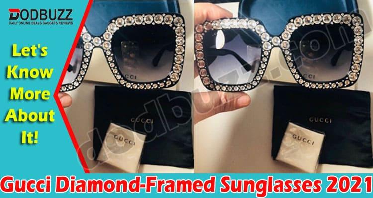 Gucci Diamond-Framed Sunglasses 2021
