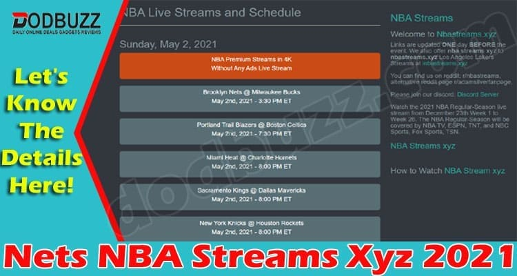 Nets NBA Streams Xyz (May 2021) Find Out More Here!