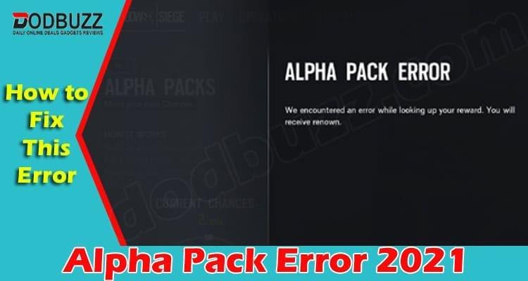 Alpha Pack Error 2021