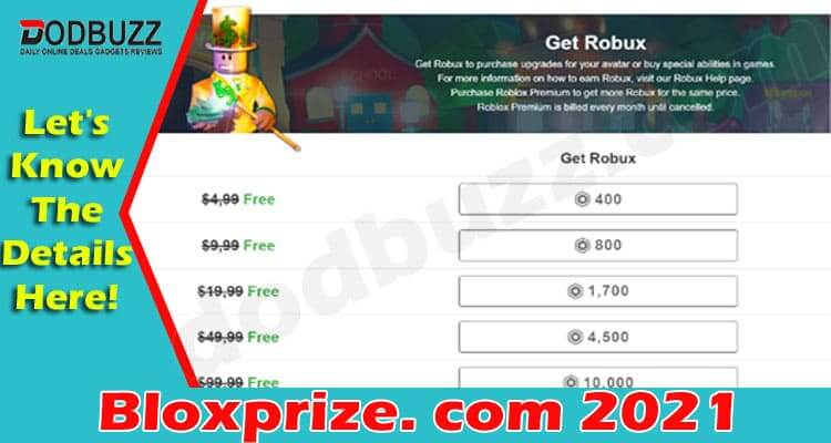 Bloxprize. com (June) Have You Got Free Robux Here