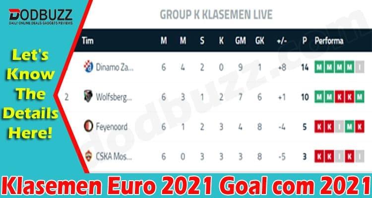 Klasemen Euro 2021 Goal Com 2021