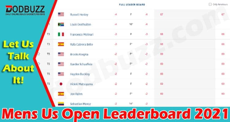Mens Us Open Leaderboard 2021 (June) Know The Details!