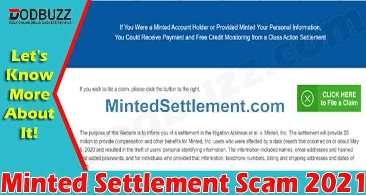 Minted Settlement Scam 2021 Dodbuzz