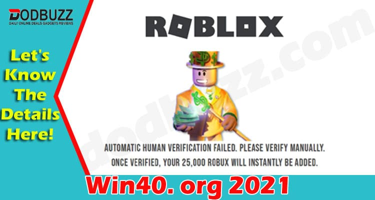 Win40. org (June) Are You Getting Free Robux Here