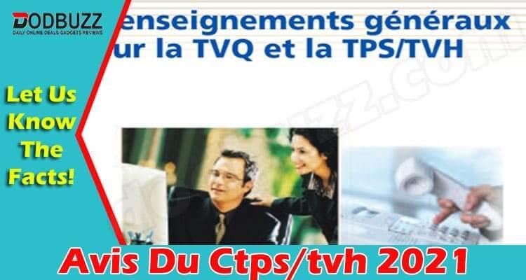 Avis Du Ctpstvh 2021.