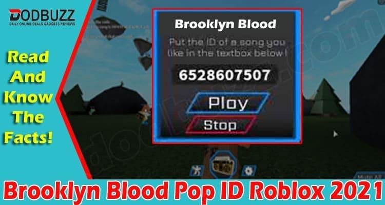 Brooklyn Blood Pop ID Roblox 2021